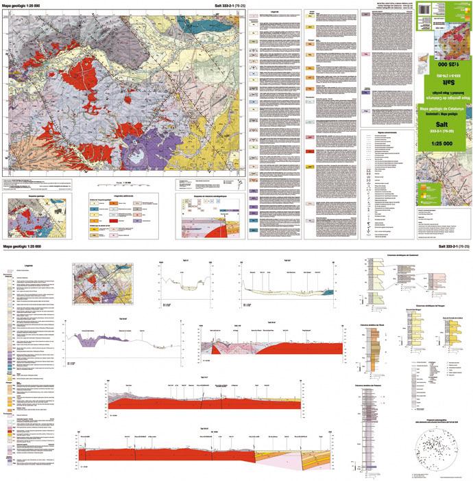 Imatge d'un full del Mapa geològic de Catalunya 1:25 000, Salt 333-2-1 (76-25)