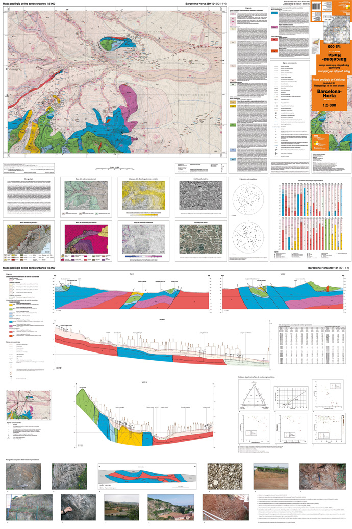 Image reduced of a sheet of Geological map of urban areas 1:5.000, Barcelona-Horta 289-124 (421-1-4)