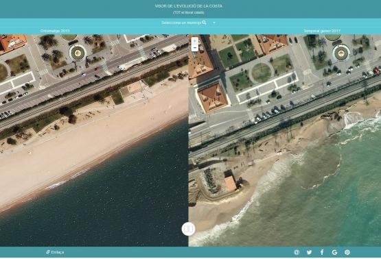 Fotografies dels efectes del temporal en el litoral de Catalunya