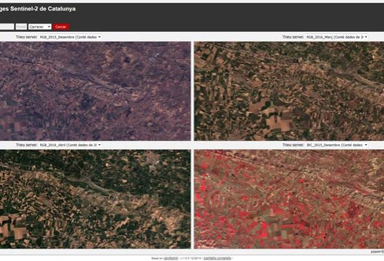 Noves imatges de Catalunya del satèl·lit Sentinel-2