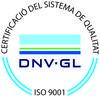 Logo de la Certificació del Sistema de Qualitat, de DNV-GL, corresponent a la ISO 9001.
