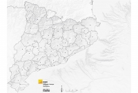 Mapa comarques mut gris