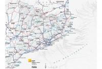 Mapa comunicacions relleu gris
