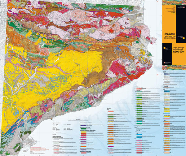 Mapa geològic de Catalunya 1:300.000
